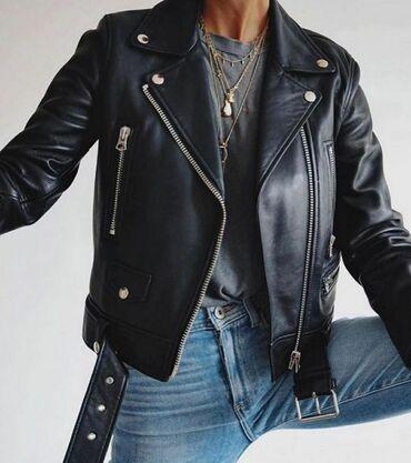 Куртки - Лебединовка: Новая черная косуха отдам за 1200
