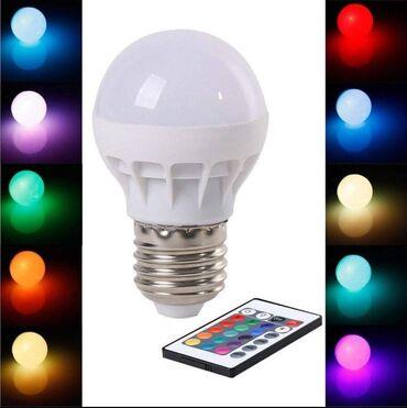 Radnici - Srbija: RGB LED Sijalica + daljinski upravljač sa baterijom Cena 900 rsdNapon