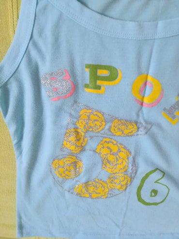 Ženska odeća | Vranje: Pamučna majica na bratele svetlo plave boje vel S, obim grudi 72 cm