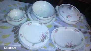 Prelepi porcelanski set, za ručavanje..  Set čine dve činije za čorbic - Cuprija - slika 6