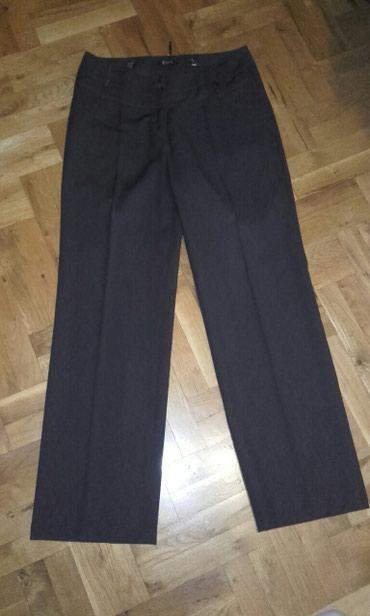 Pantalone-braon-icna-frd - Srbija: Elegantne braon pantalone broj 38. zasta malo nosene