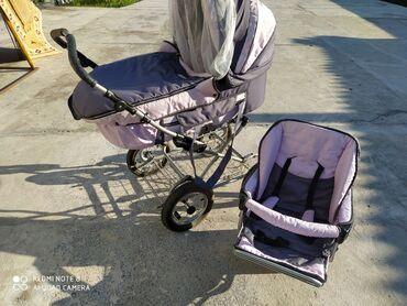 Коляски в Беловодское: Продаю коляску 2в 1(новая)и кровать высокая с горкой с