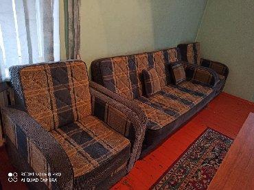 раскладной диван с двумя креслами в Кыргызстан: Диван мягкая раскладнойдвумя кресламиСамовывоз район Филармония океана