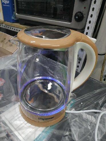 hb salfetki в Кыргызстан: Чайник электрический стеклянныйImpower HB-K001Объем 2.2 литраМощность