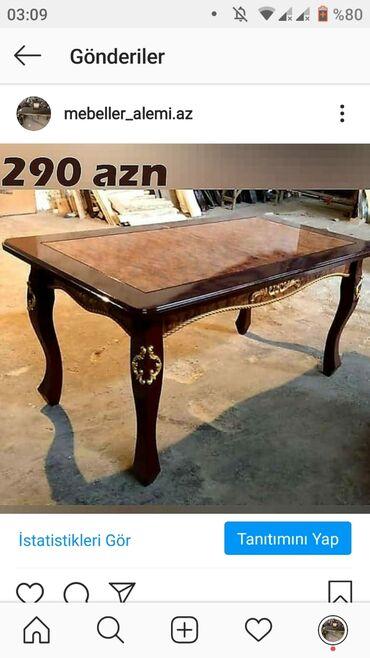 masalar kitab - Azərbaycan: Qonaq otaqı masası.Qiymətləri endirdik.330 azndan 290 azna.Masanın mat
