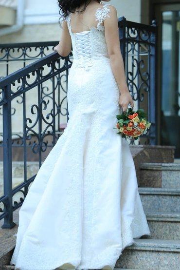 Шикарное свадебное платье шили на в Бишкек