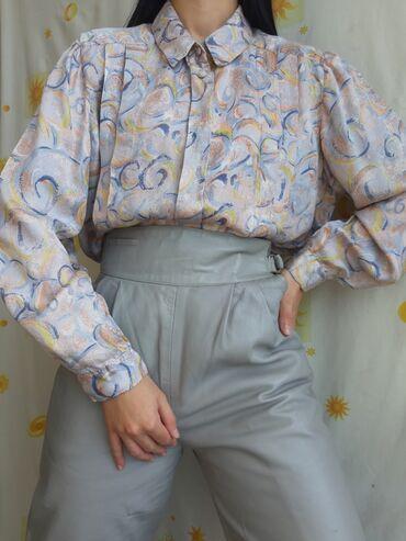 Retro svilena bluza 100% svilaVintage modelNajfinija svilaKAO NOVOVel
