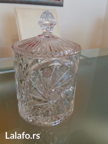 Kristalna cinija sa poklopcem-kristal zajecar - Sombor