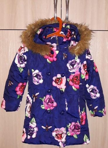 Курточка тёплая на девочку, капюшон в Бишкек