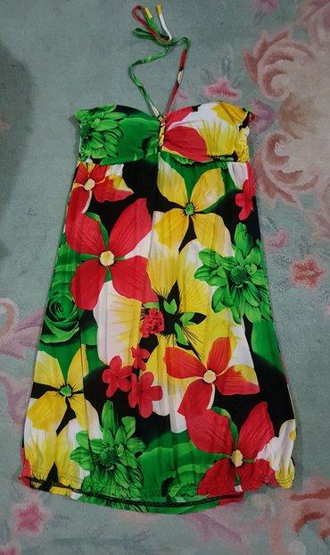 Sarena cvetna haljina za leto. Free size. Neki m- l Vezuje se oko - Belgrade
