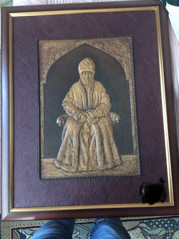 Картина Курманжан датка из натуральной кожи в Бишкек