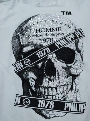 Muški Duksevi | Plandište: Philipe Plein Majica Bruseni pamuk sa elastinom. Original. Cena 30e