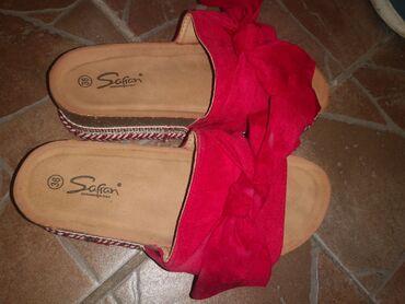 Papuce nove ne korišćene, broj 36 gaziste 22,5 cm, prelepe i efektne