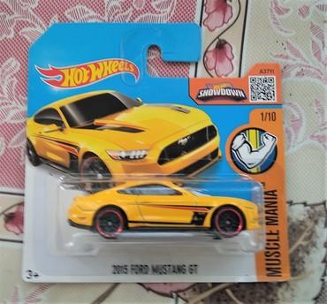 "isma mustang - Azərbaycan: ""Hot Wheels"" avtomobili Ford Mustang 2015 GT Ölçü: 5cm Miqyas: 1/10"