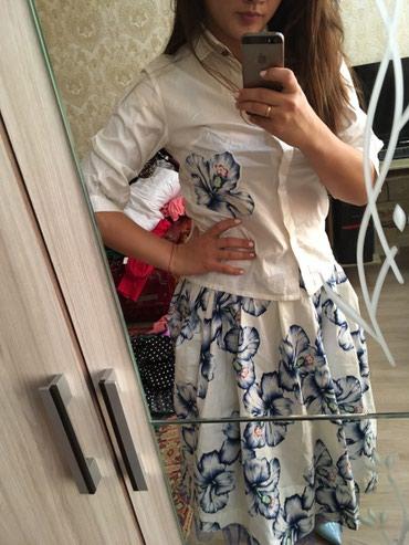 Двойка очень стильная рубашка+юбка  , в Баетов