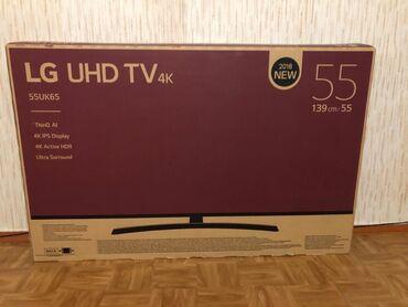 """Телевизоры - 55"""" - Бишкек: Продаю телевизор смарт тв webos LG 4k в заводской пленке, в комплекте"""