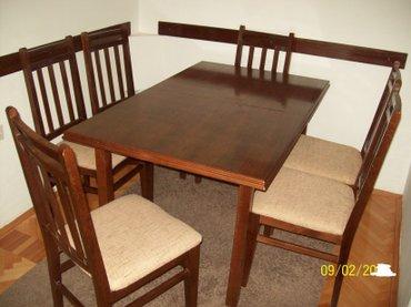 Sto: 143 cm sa 87 cm visina 76 cm stolice: 45 cm sa 42 cm - Nis