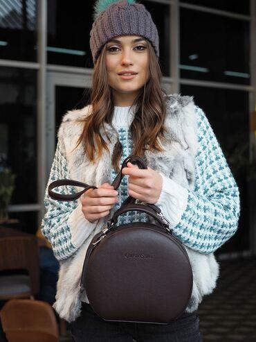 Сумка, круглая сумка, женская сумка, Christie Saiko.Ручка. Плечевой