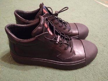 """Мужская обувь в Кыргызстан: Продаю или меняю на смартфон новые мужские кожанные ботинки от фирмы""""P"""