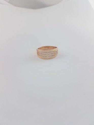 Кольца из красного золота 585проба Вставка циркон. размер кольца 20.0 в Бишкек
