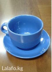 Чашка+блюдце для чая-Удобная в Бишкек