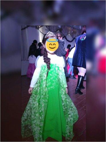 прокат платья эльзы на 7-8 лет, залог паспорт в Бишкек
