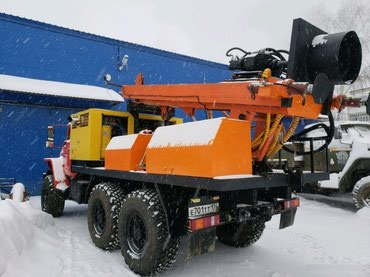 Буровая установка ПБУ-2 на шасси Урал в в Бишкек
