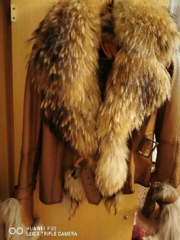 Jakna sa prirodnim krznom - Srbija: Kozna jakna sa prirodnim krznom, skroz je nova, hitna prodaja