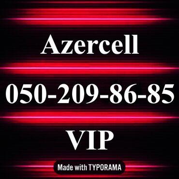 nomre - Azərbaycan: 050-209-86-85 Yeni VIP Azercell nomre