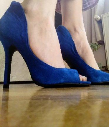 Svetlo-plave-broj - Srbija: Plave cipele na štiklu, broj 36, jednom nošene, elegantne, kupljene u