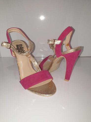 Ženske Sandale i Japanke - Crvenka: Sandale novo broj 36dužina gazišta 23cm. Visina štikle 10cm