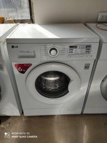 б у стиральная в Кыргызстан: Фронтальная Автоматическая Стиральная Машина LG 6 кг