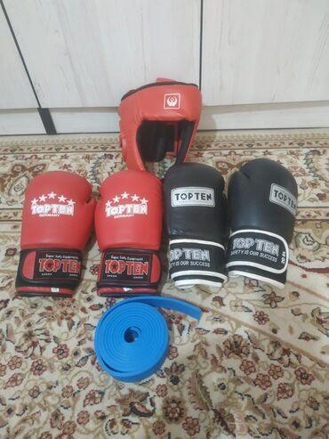 Личные вещи - Чок-Тал: Продаю Бексерские Перчатки Шлем И Жгут!!!Топтен Черный перчатки размер