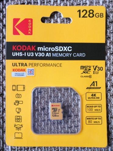 Kodak u3/v30 microSD 128GBOriginalna microSD kartica Kodak 128GB u3