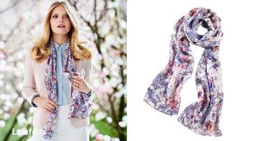 Avon dama - Srbija: Prelepa Avon ešarpa sa cvetnim printom. Materijal je veoma prijatan a