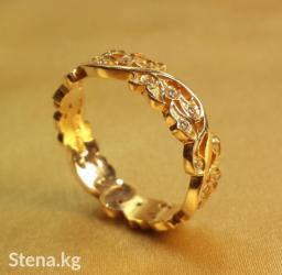 Эксклюзивные обручальные кольца из золото 585 пробы с цирконами. в Бишкек
