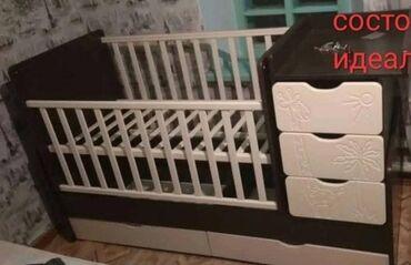 Детский мир - Новопавловка: Продаю детскую кровать 3-в1 состояние идеальное б/у