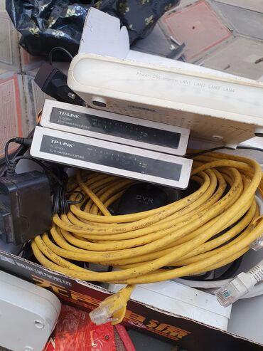 Tp-link hub Хаб2 штуки 8ми портовые + adsl модем + сетевые кабели Все