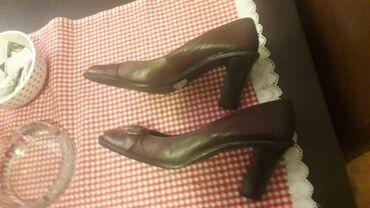 Cipele stikle visina - Srbija: Bata italijanske kozne braon cipele, kao nove, obuvene par