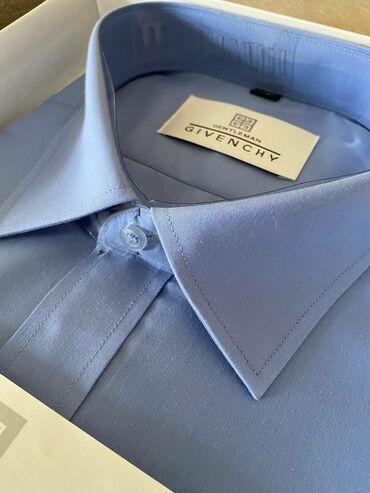 Мужская одежда - Кыргызстан: Мужская классическая рубашка givenchy 56 размера (17,5 в шее). Новая!