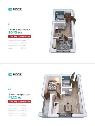 Продается квартира: 2 комнаты, 21 кв. м