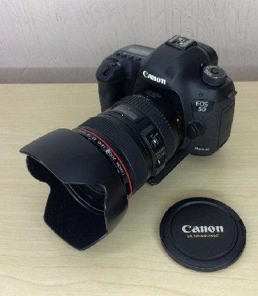 canon-mark-2-5d-цена в Кыргызстан: Продаю фотоаппарат canon 5d markiii с объективом canon 24-105
