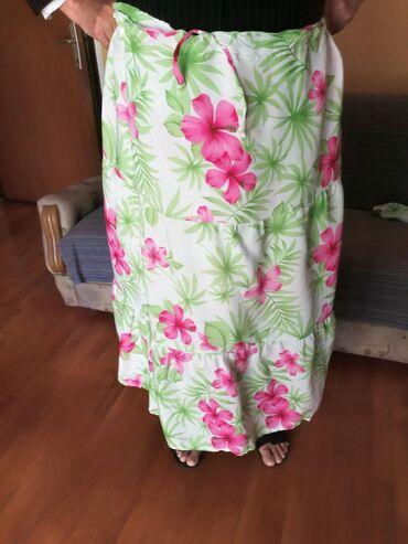 Haljine | Bajina Basta: Sareni letnji komplet suknja i kosulja letnja, suknja podesiva u
