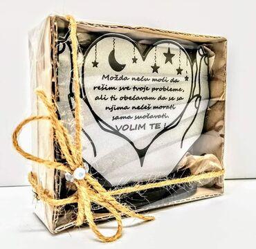 Ostalo | Sremska Mitrovica: Poklon poruka, dostupna u crno sivom i crveno sivom izdanju. Poruka po