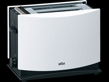Тостер BRAUN HT400  --1080 Вт, количество тостов: 2, корпус: пластик