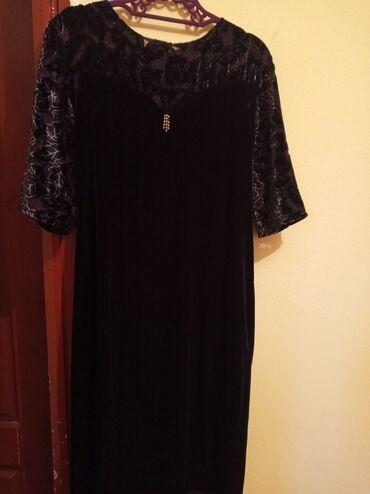 Личные вещи - Мыкан: Платье велюровоеодевала 1 разразмер 50/52