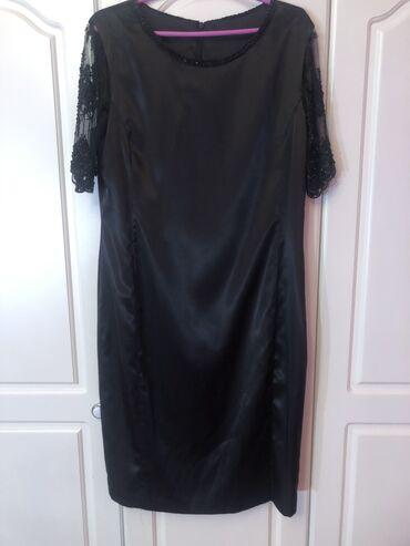 Duzina sirina rukava - Srbija: Crna haljina. dimenzije-Duzina-105 cm,Sirina grudi-49/50 cm,Sirina
