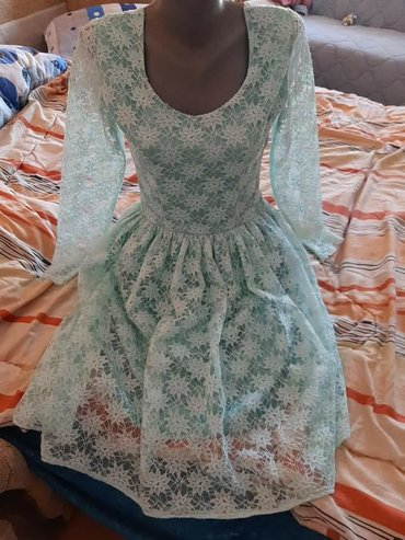 Ženska odeća | Vranje: Sivena haljina,1x nosena Boja je tirkizna,jako lepa uzivo