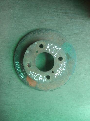 Ниссан Микра к11 передний тормозной диск. Одрес Кудайберген рынок 4А