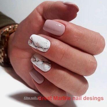 Маникюр наращивания ногтей
